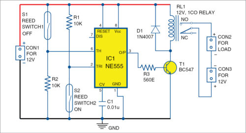 Circuit diagram of automatic water refiller for air-coolers