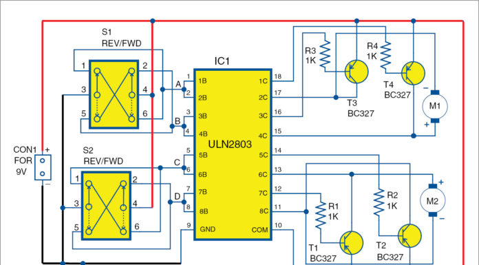 Circuit of bi-directional DC motor control