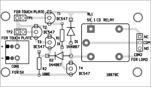 touch switch pcb layout