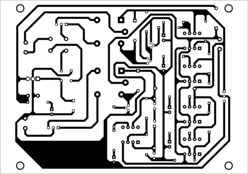 PCB for automatic light and overcharging control