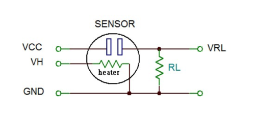 MQ series of gas sensors connection diagram