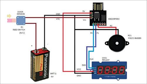 Circuit of door ajar alert system