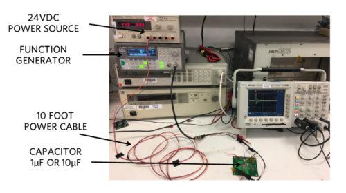 Cable ringing test setup