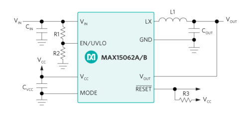 MAX15062 typical application schematic