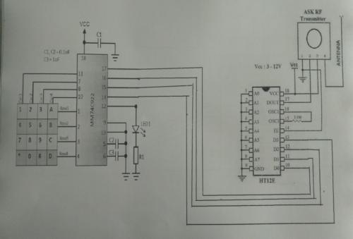 Circuit Diagram for Transmitter