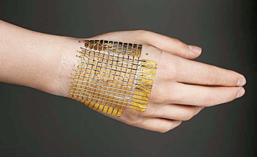 Ulsan National Institute's electronic skin that can detect changes in both temperature and pressure