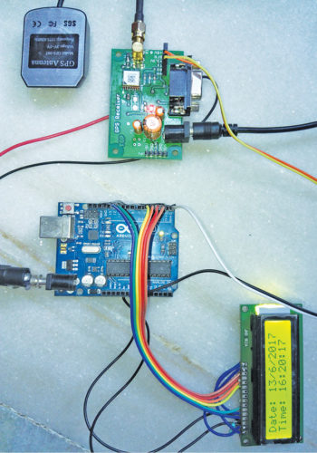 Author's prototype for GPS clock using Arduino