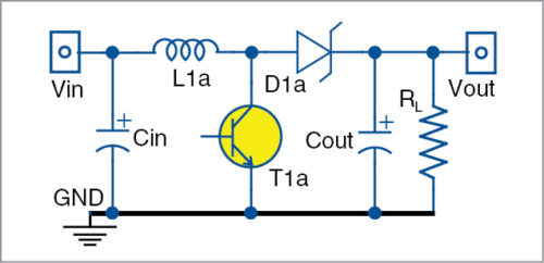 Boost switching regulator circuit