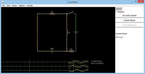 Circuit simulation using CircuitMod software