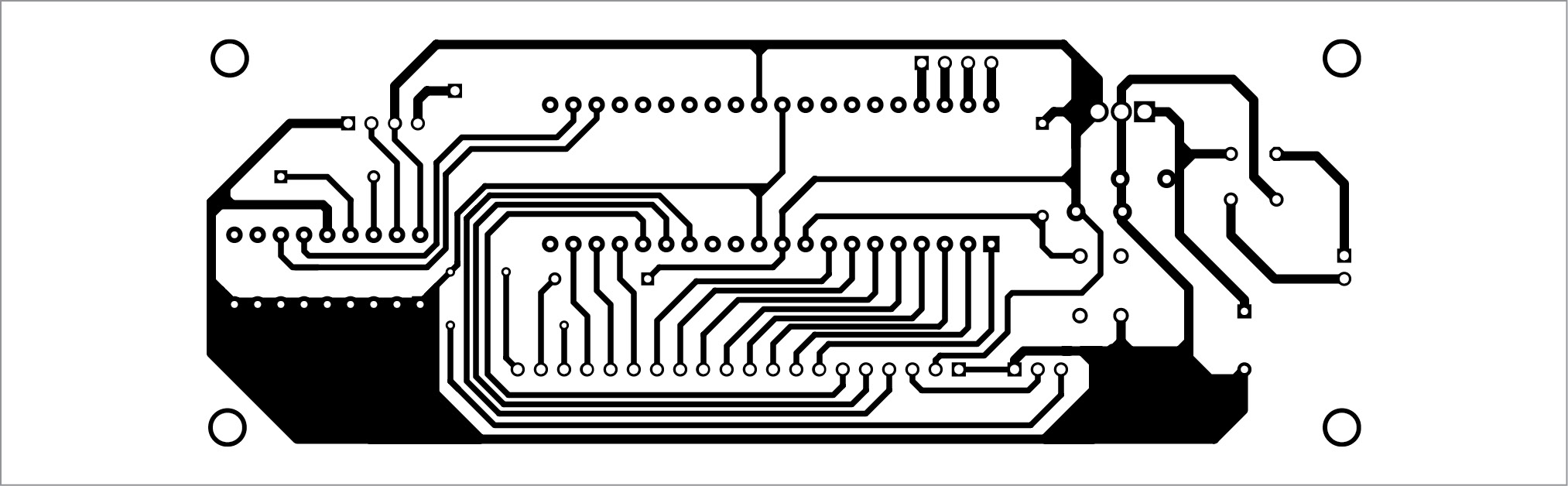 PCB layout for transmitter section