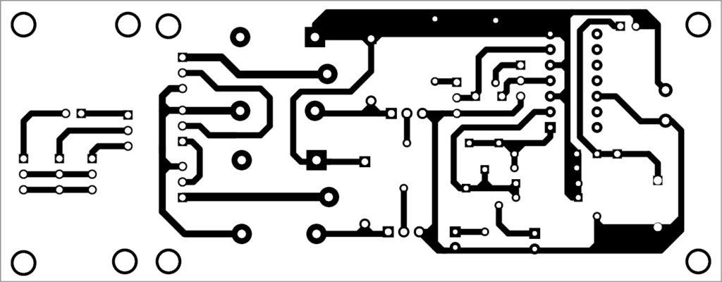 PCB layout of switch box circuit