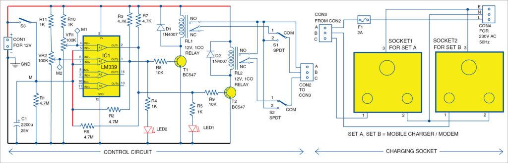 Switch box circuit
