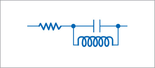 Equivalent circuit for an inductor at high frequency
