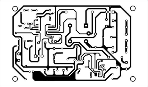 PCB layout of power unit