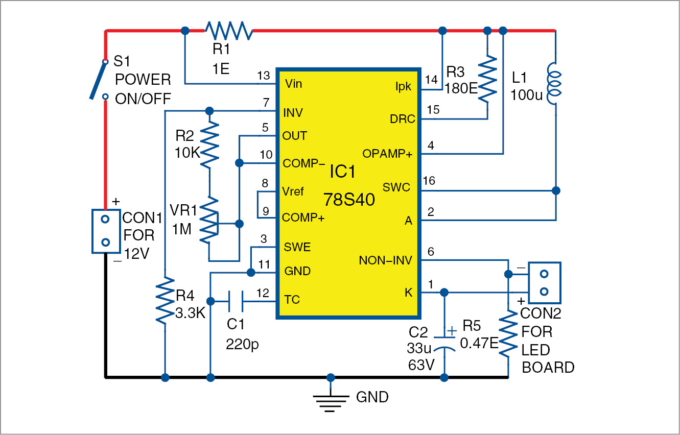 circuit diagram led bulb battery powered night lamp using an old led bulb diy project  night lamp using an old led bulb
