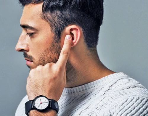 Hear simply by placing your fingertips on your ear (Courtesy: Innomdle Lab)