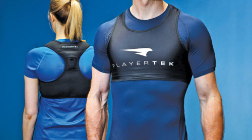 Players benefit from technology embedded in clothes, which collect data to help them analyse and improve their game (Source: Playertek)