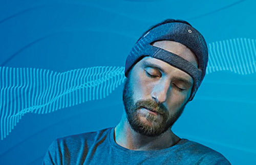 Might not sound like a lullaby, but white noise from Philip's headband helps you sleep deeper