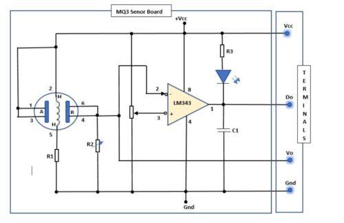 MQ3 Module Circuit Diagram