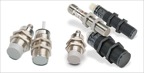 Capacitive and inductive proximity sensors (Image courtesy: https://cdn.automationdirect.com)