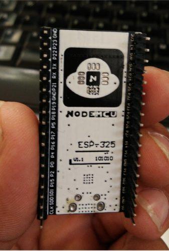 ESP32 board from bottom side