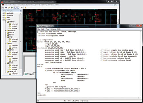 Symica with Verilog compatibility