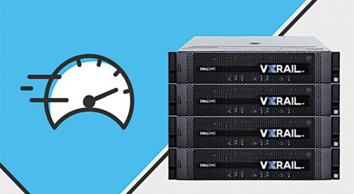 The Dell EMC VxRail hyper-converged infrastructure appliance with Intel Xeon processors