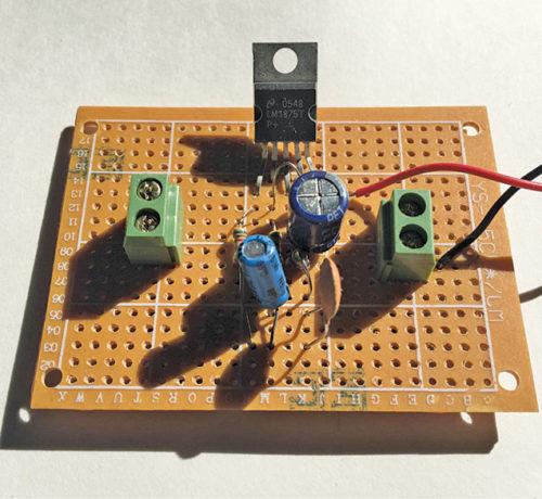Author's prototype for 10-Watt Audio Amplifier Using LM1875