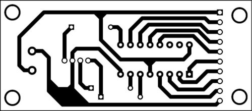 Actual-size PCB of the multiple-status indicator using a single RGB LED