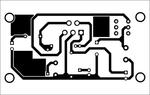 PCB layout of the audio amplifier