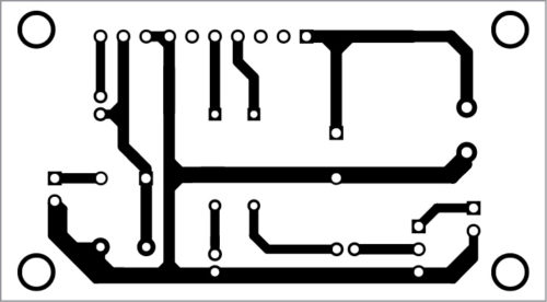 PCB layout of 5-watt audio amplifier