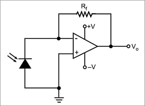 Application circuit of photodiode in photovoltaic mode