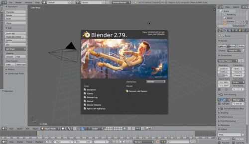 Blender user interface (Credit: Blender.org)