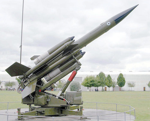 Bloodhound missile (Credit: https://commons.wikimedia.org)