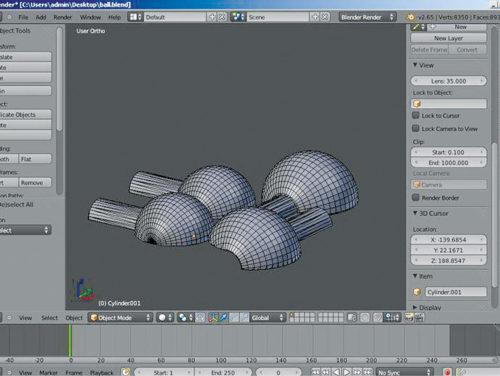 Creating 3D models in Blender (Credit: thingiverse.com)