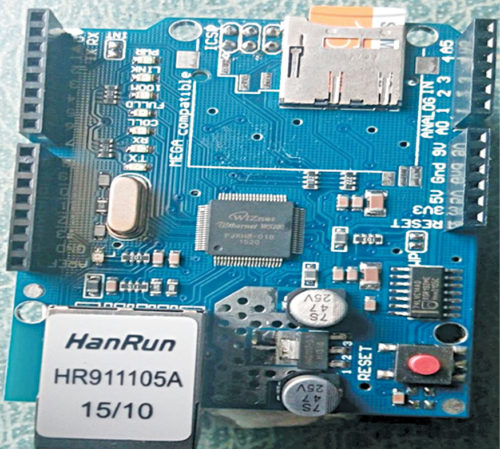 Ethernet shield with microSD card