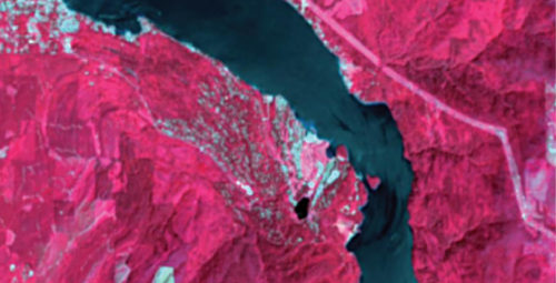 Image captured using passive remote sensing through Radarsat-2