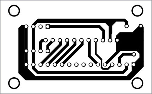 PCB layout of GPS- and GSM-based vehicle tracking system