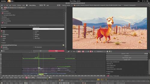 Video editing in Blender (Credit: Blender.org)