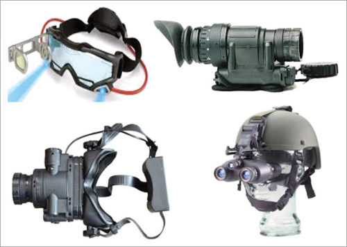 Different package configurations of night vision devices