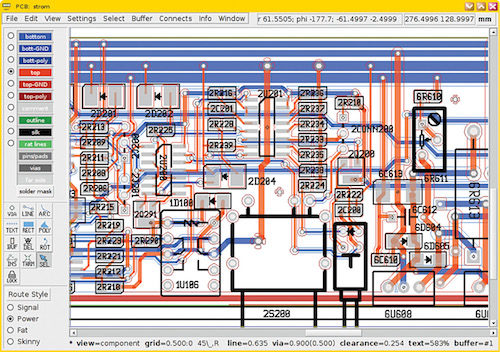 Creating a layout on PCB