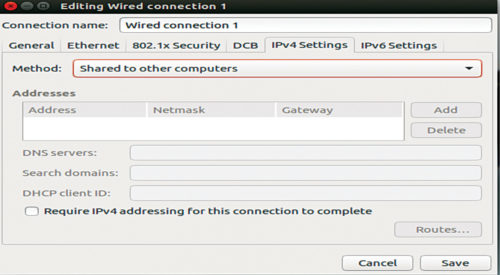 Ethernet settings in Ubuntu