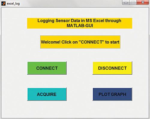 Screenshot of the GUI