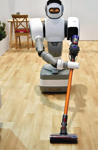 Aeolus smart home robot cleaning the floor (Credit: www.cnet.com)