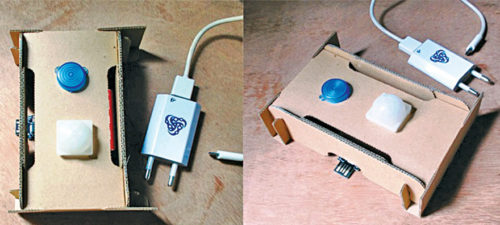 Author's prototype for Motion Detector Security Alarm