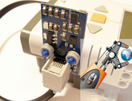 Fig. 8: Inertial sensor mounted on robot (Credit: www.dexterindustries.com)