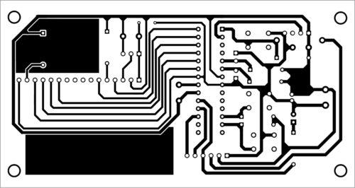 PCB layout of GPS clock