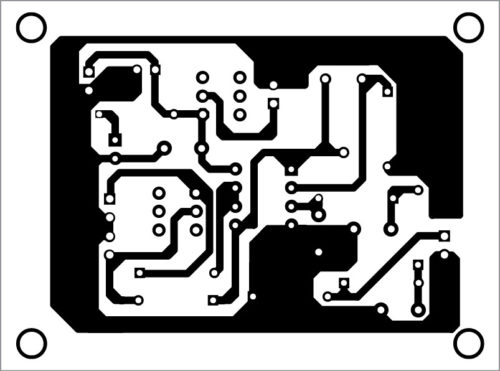 PCB layout of PWM-to-analogue signal converter
