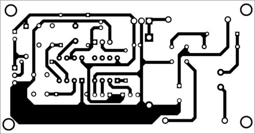 PCB layout of washbasin mirror light controller