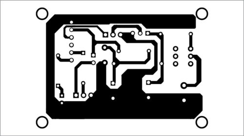PCB of motion detector security alarm